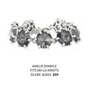 Stella & Dot EUC Amelie Silver Sparkle Bracelet